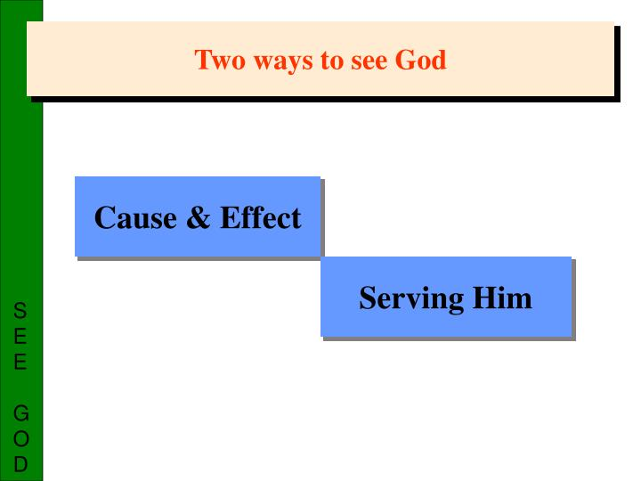 Two ways to see God