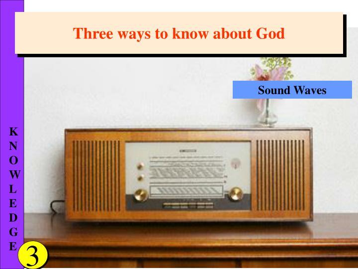 Three ways to know about God