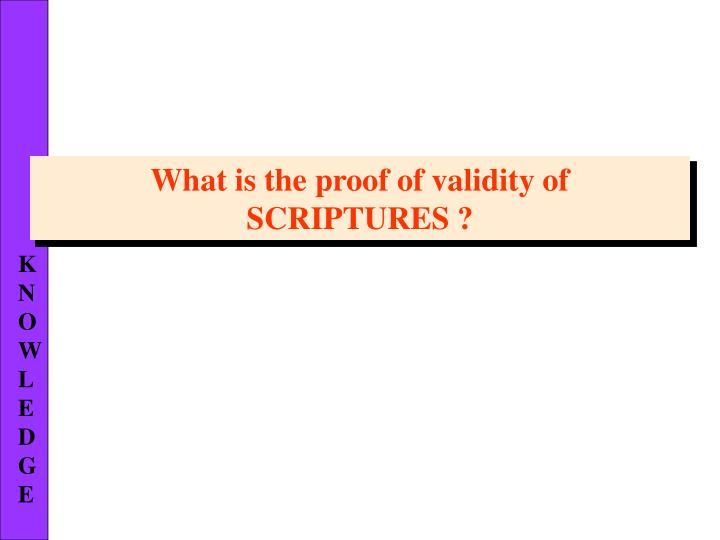 What is the proof of validity of