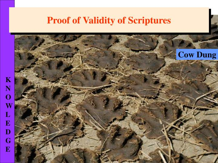 Proof of Validity of Scriptures