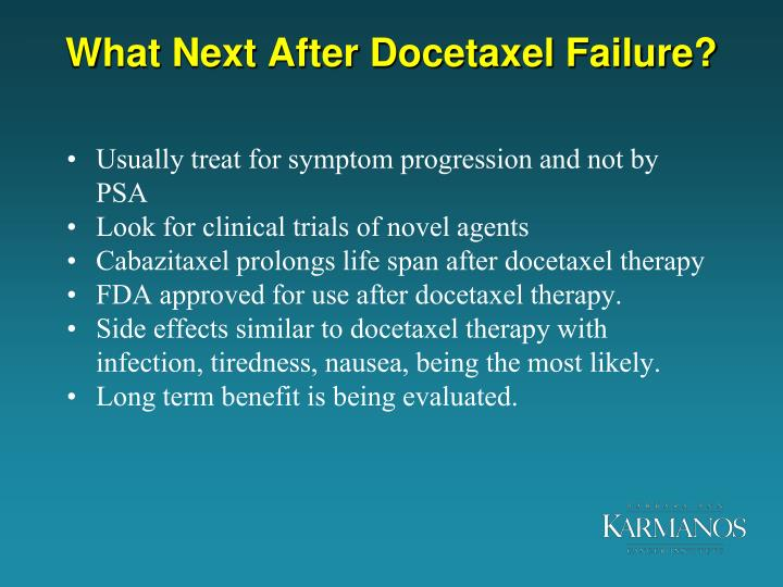 What Next After Docetaxel Failure?