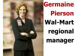 germaine pierson wal mart regional manager