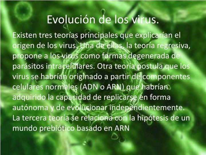Evolución de los virus.