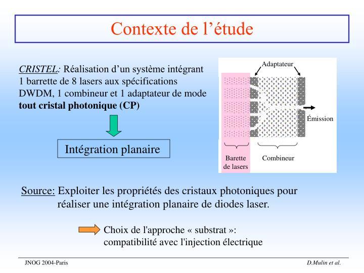 Intégration planaire