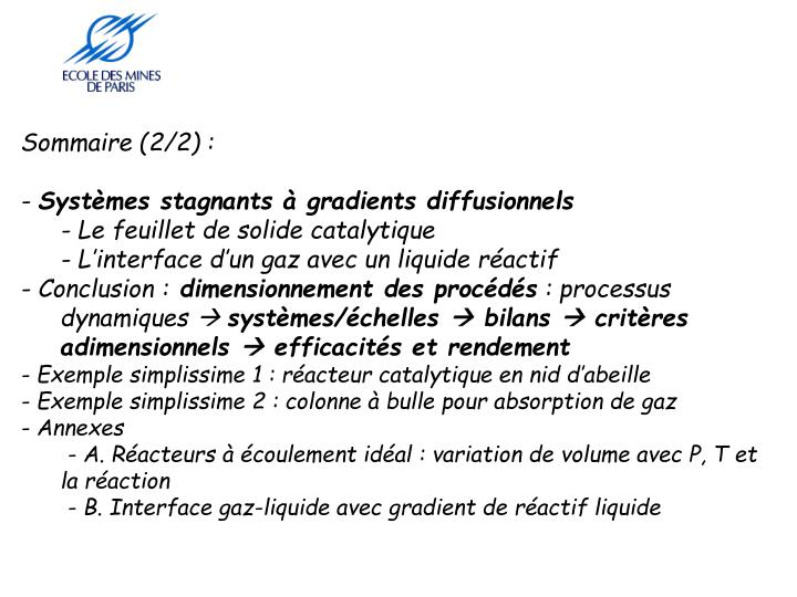 Sommaire (2/2) :