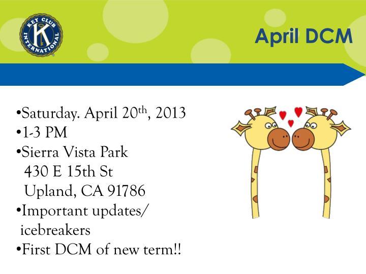 April DCM