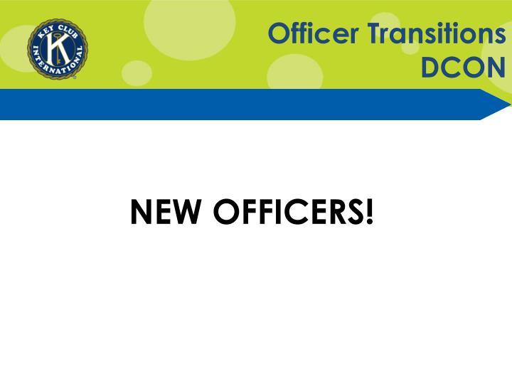 Officer Transitions