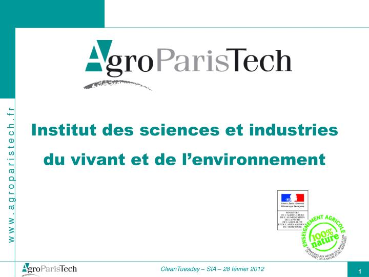 Institut des sciences et industries