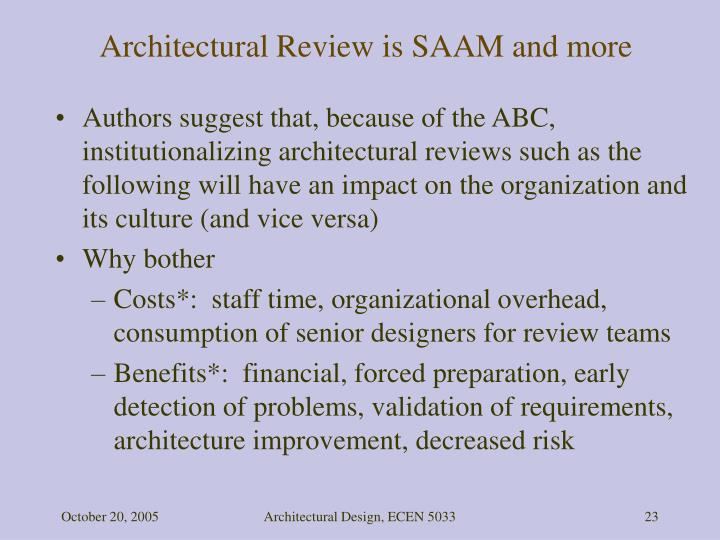 Architectural Review is SAAM and more