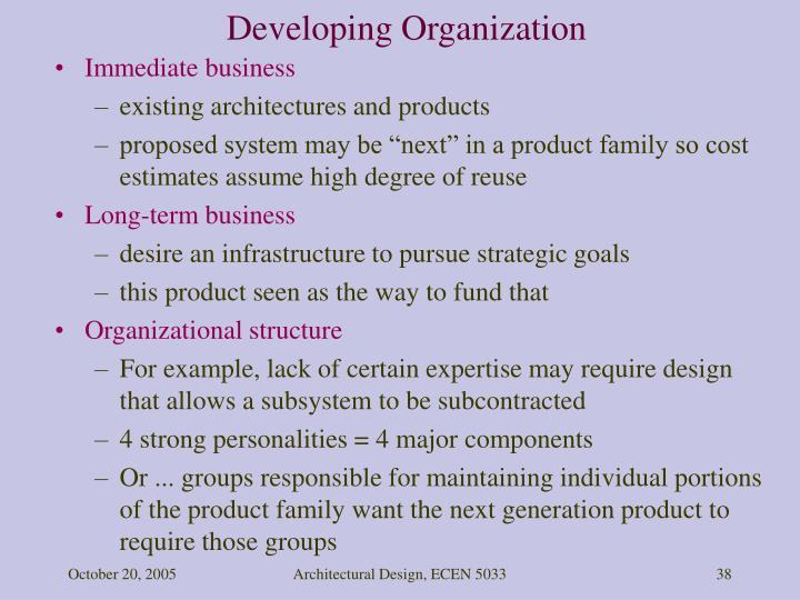 Developing Organization