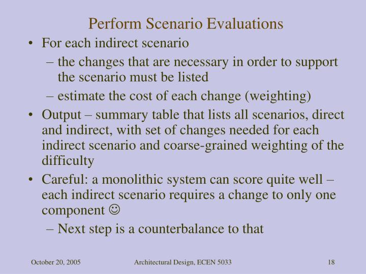 Perform Scenario Evaluations