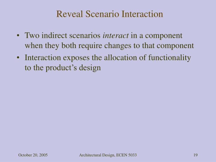 Reveal Scenario Interaction