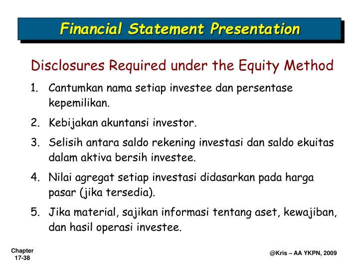 Financial Statement Presentation