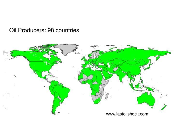 Oil Producers: 98 countries