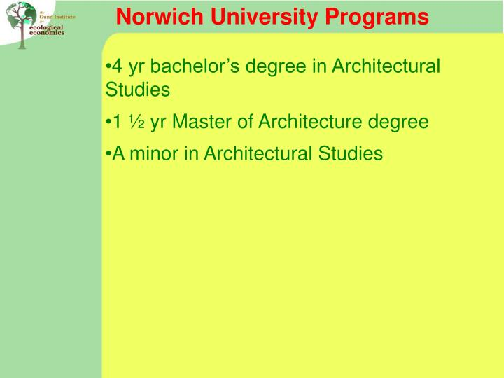 Norwich University Programs