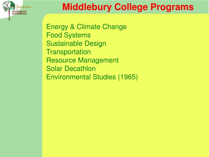 Middlebury College Programs