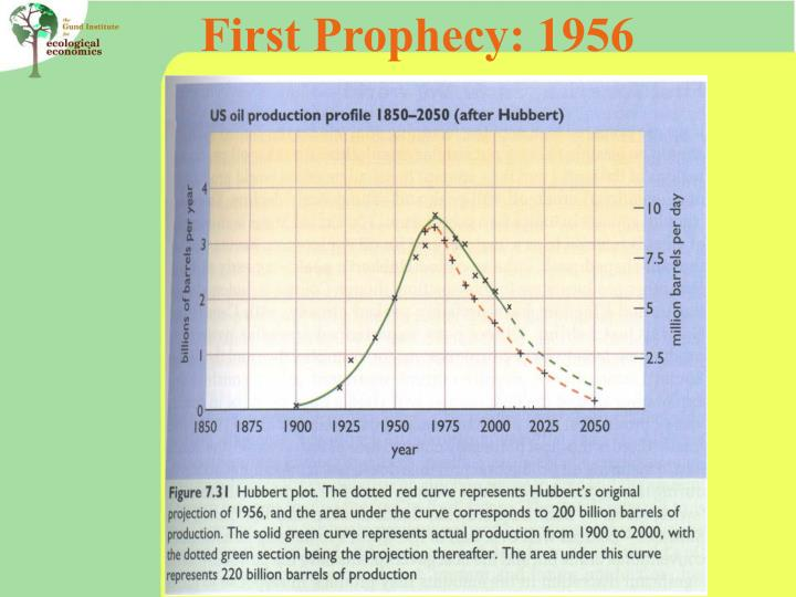 First Prophecy: 1956