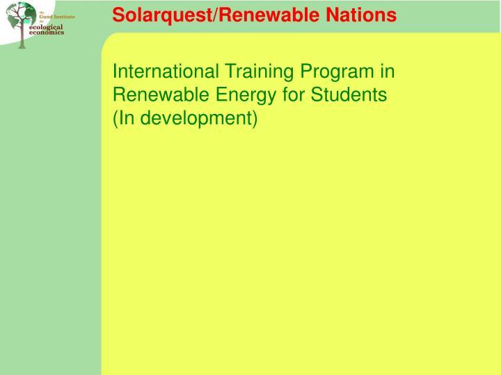 Solarquest/Renewable Nations