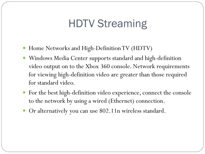 HDTV Streaming
