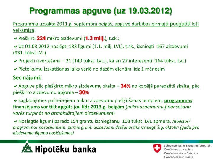 Programmas apguve (uz 19.03.2012)