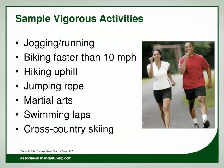 Sample Vigorous Activities