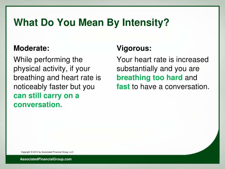 What Do You Mean By Intensity?