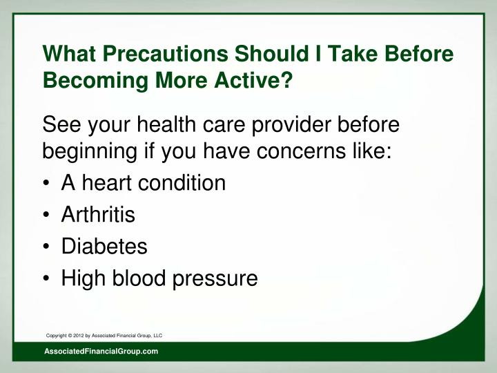What Precautions Should I Take Before Becoming More Active?