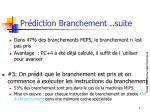 pr diction branchement suite