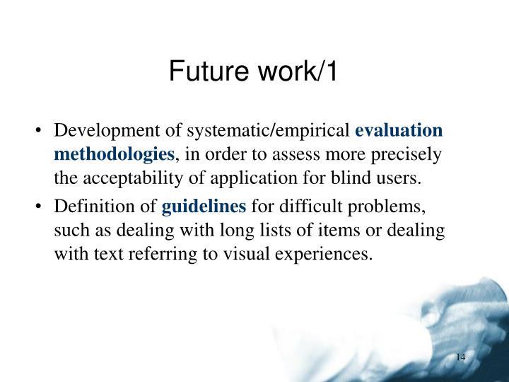 Future work/1