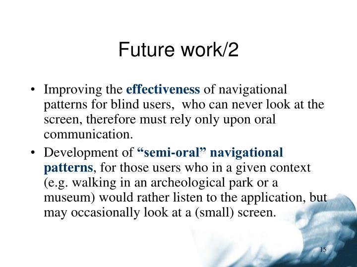 Future work/2