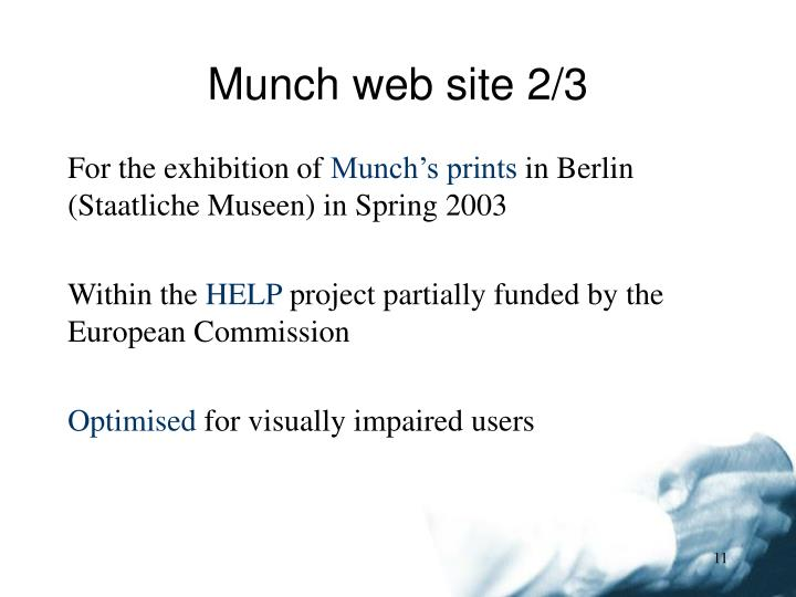 Munch web site 2/3