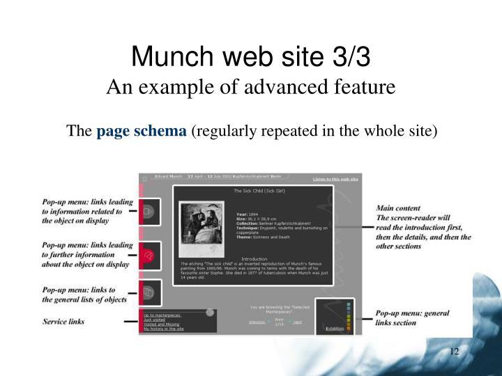 Munch web site 3/3