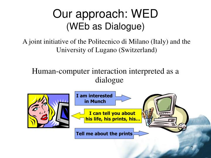 Our approach: WED