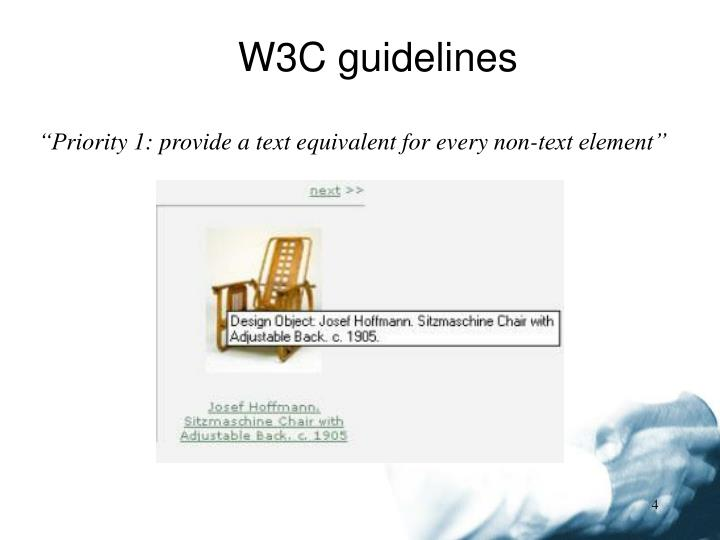 W3C guidelines