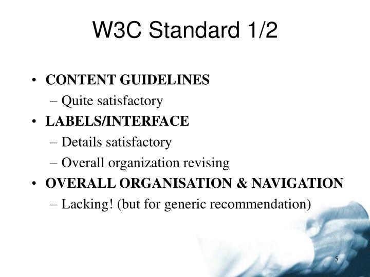 W3C Standard 1/2