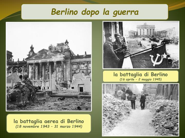 Berlino dopo la guerra