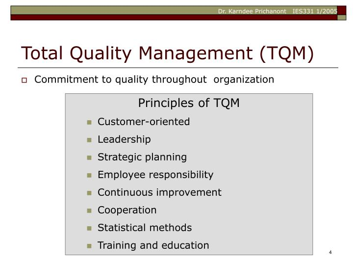 Commitment to quality throughout  organization