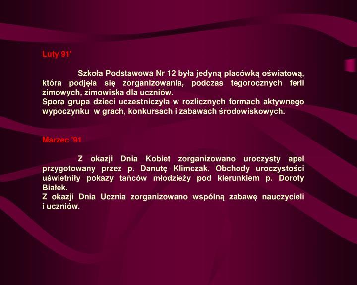 Luty 91'