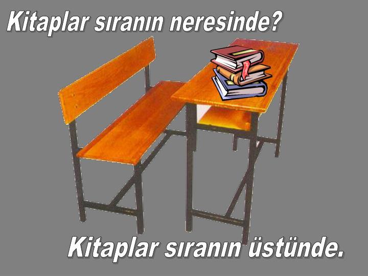 Kitaplar sıranın neresinde?