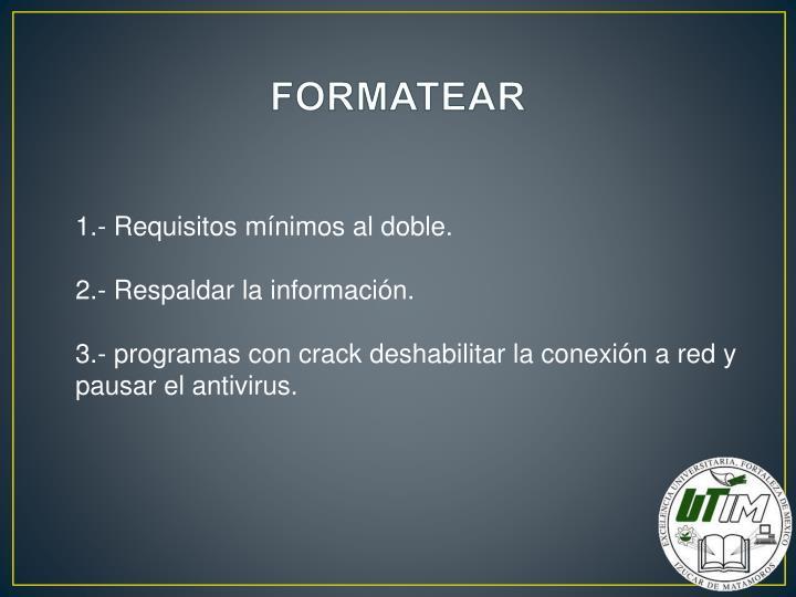 FORMATEAR