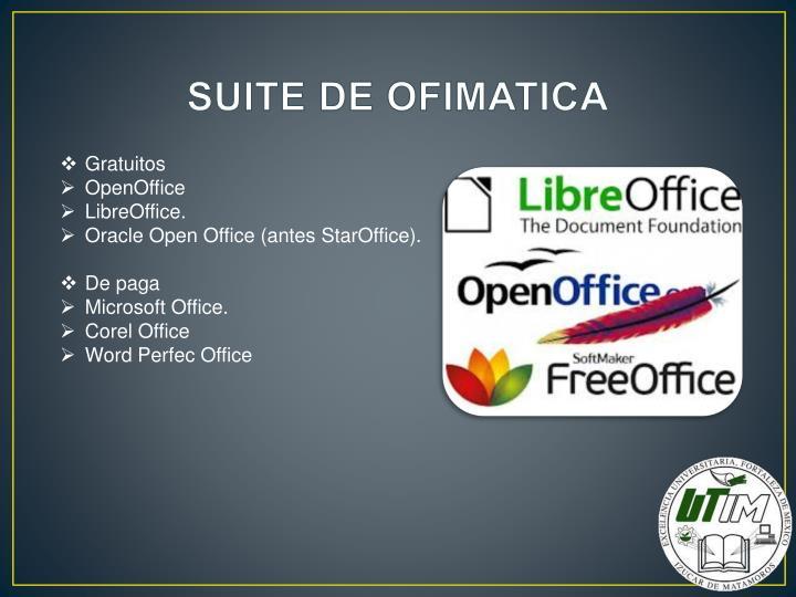 SUITE DE OFIMATICA