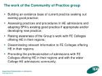 the work of the community of practice group