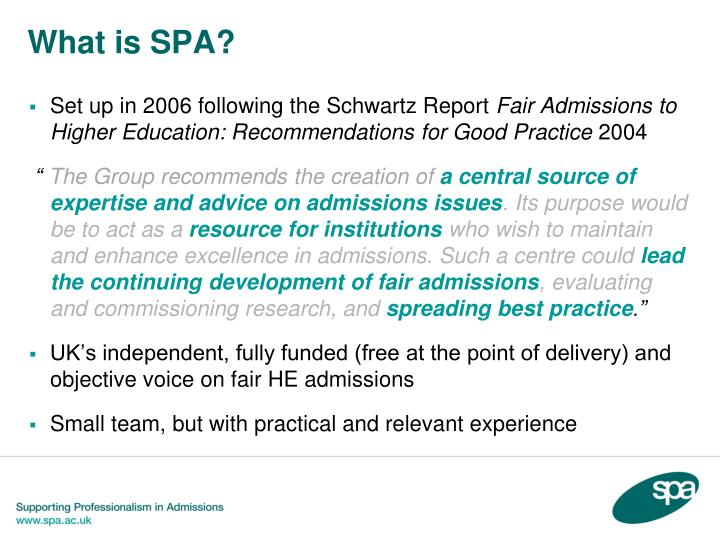 What is SPA?