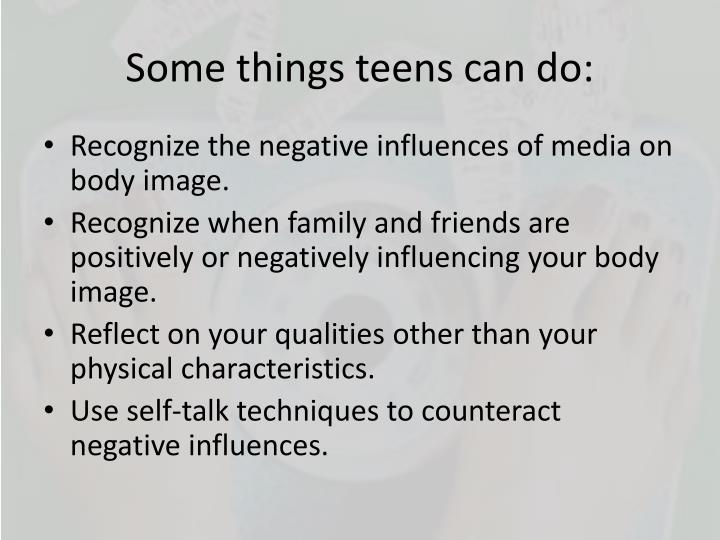 Some things teens can do: