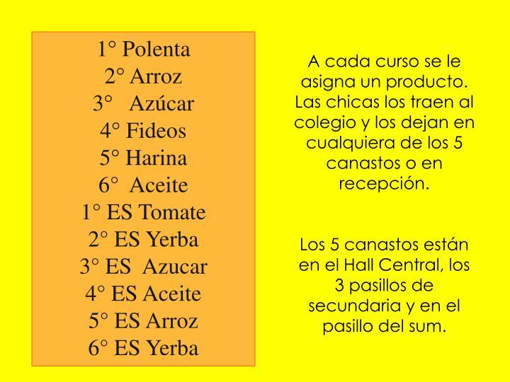 1° Polenta