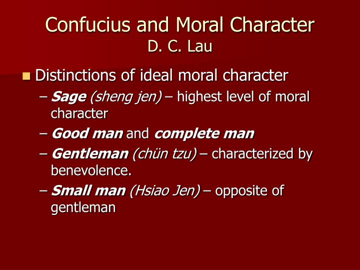 Confucius and Moral Character