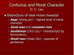 confucius and moral character d c lau
