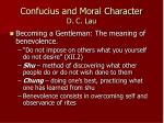 confucius and moral character d c lau1