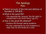 the apology plato