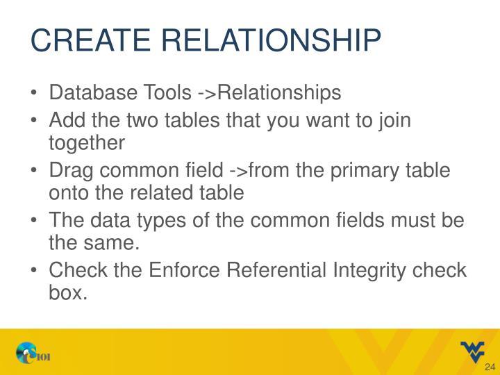 Create relationship